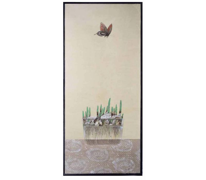 Oosters Schilderij Vlinder En Bloembollen