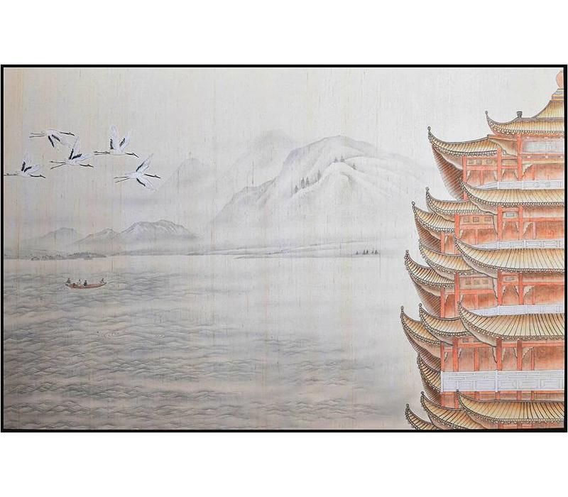 Oosters Schilderij Pagoda