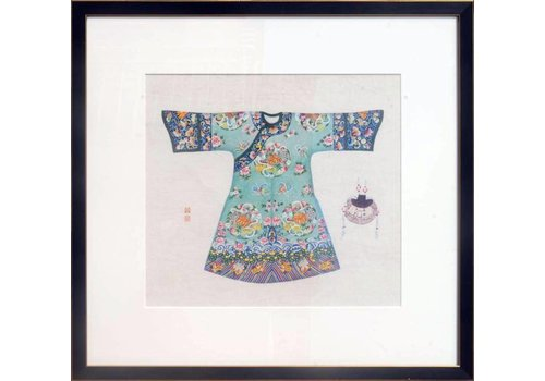 Fine Asianliving Chinese Painting Blue Clothing larger size