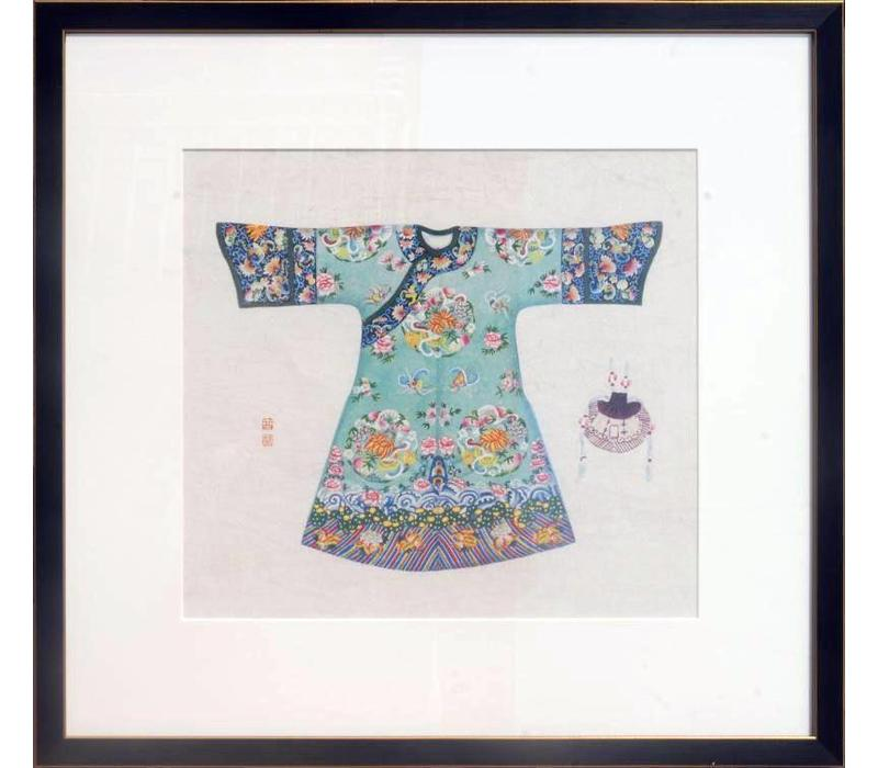 Chinese Painting Blue Clothing larger size
