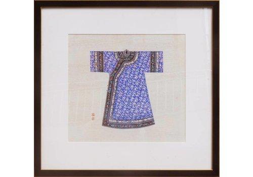 Fine Asianliving Chinees Schilderij Blauwe Kledij grotere maat