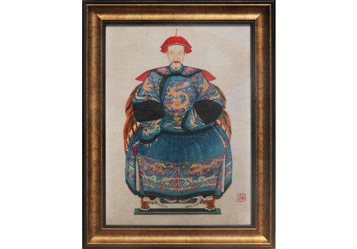 Fine Asianliving Chinees Schilderij Grootvader Portret Groot