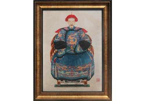 Fine Asianliving Fine Asianliving Chinese Voorouderportret Schilderij Glicee Handmade