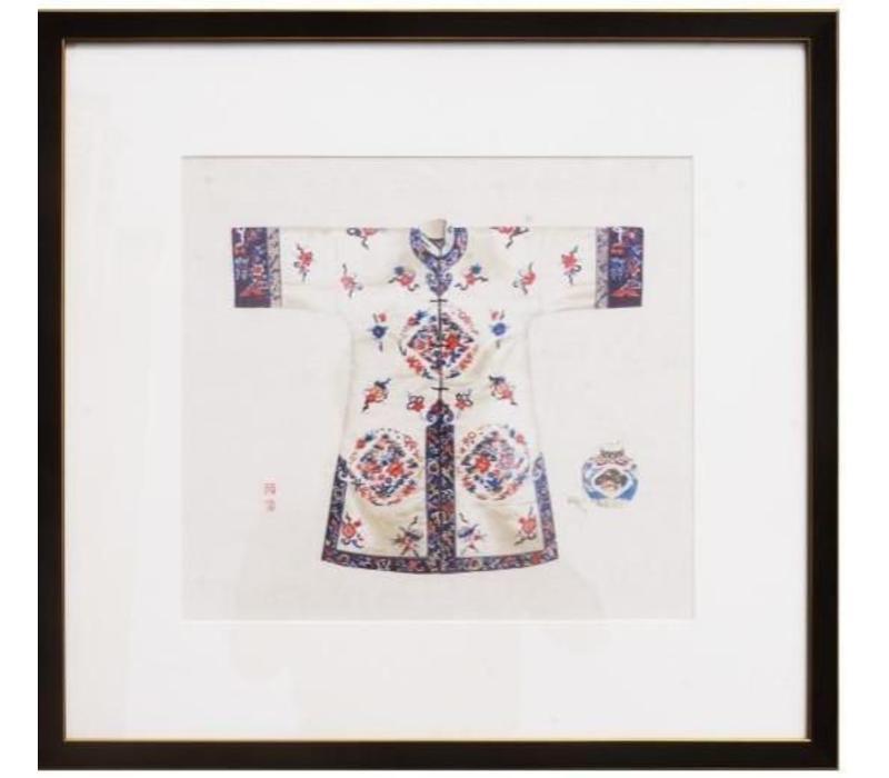 Chinees Schilderij Witte Kledij