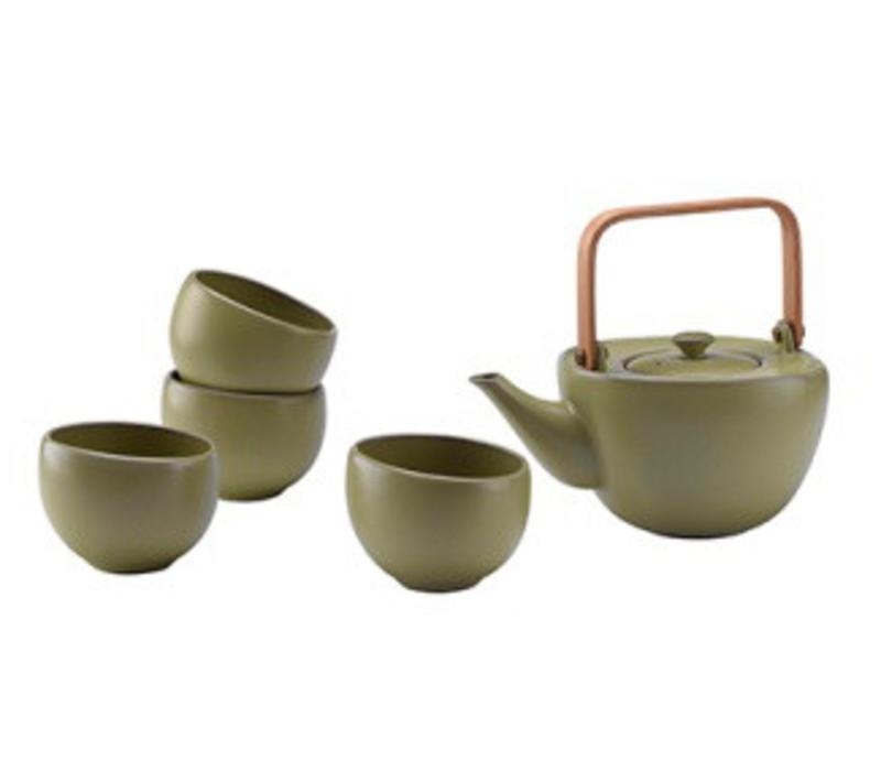 Tea Set 5 Mat Green