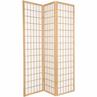 Fine Asianliving Japanese Room Divider L135xH180cm Privacy Screen Shoji Rice-paper 3 Panel - TANA/N3