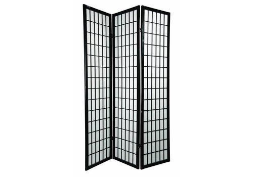 Fine Asianliving Japanese Room Divider Privacy Screen Rice-paper 3 Panel - TANA/B3