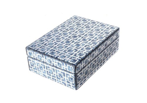 Fine Asianliving Jewelery box Blue Marble Large