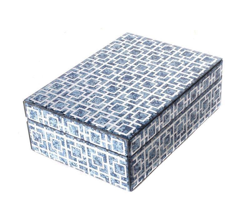 Sieradendoos Blue Marble Groot