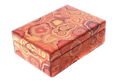 Fine Asianliving Jewelery box Malachite Orange Large