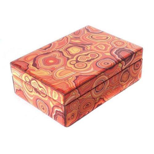 Jewelery box Malachite Orange Large