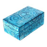 Sieradendoos Blue Malachite Klein