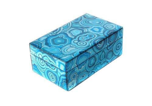 Fine Asianliving Jewelery box Blue Malachite Small