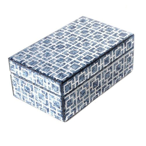 Jewelry box Blue Marble Small