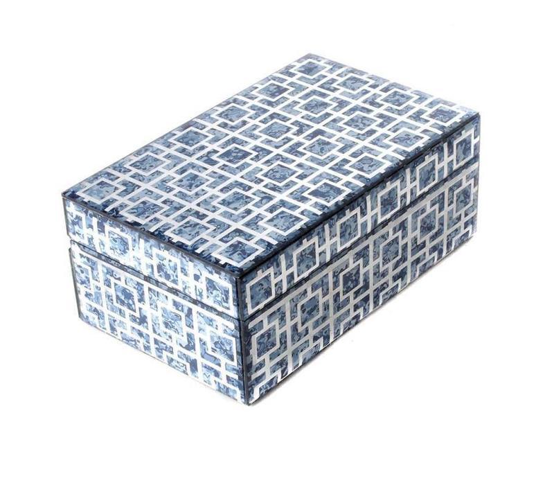 Sieradendoos Blue Marble Klein