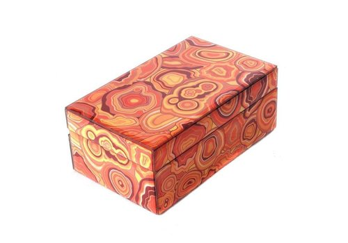 Fine Asianliving Jewelery box Malachite Orange Small