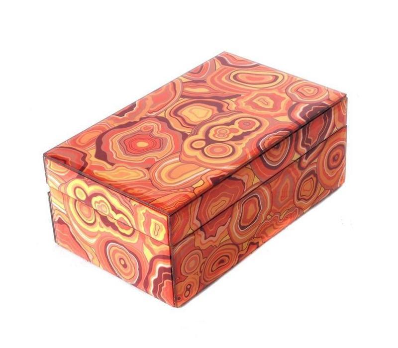 Jewelery box Malachite Orange Small