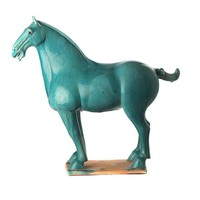 Terracotta Paard Han Chinese Style Turquoise