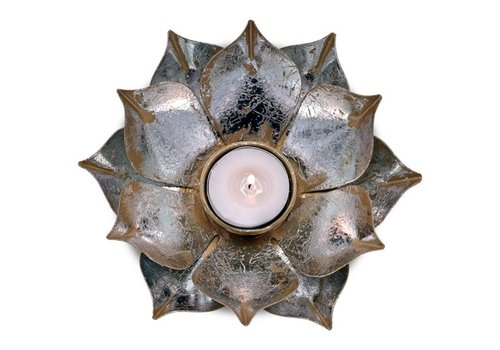 Fine Asianliving Candle holder open lotusflower