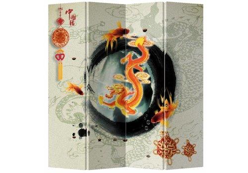 Fine Asianliving Fine Asianliving Kamerscherm Scheidingswand 4 Panelen Ouroboro