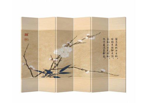 Fine Asianliving Fine Asianliving Kamerscherm Scheidingswand 6 panelen Bloesems L240xH180cm