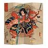 Fine Asianliving Oosters Kamerscherm 4 Panelen Japanse Samurai Minamoto no Tametomo
