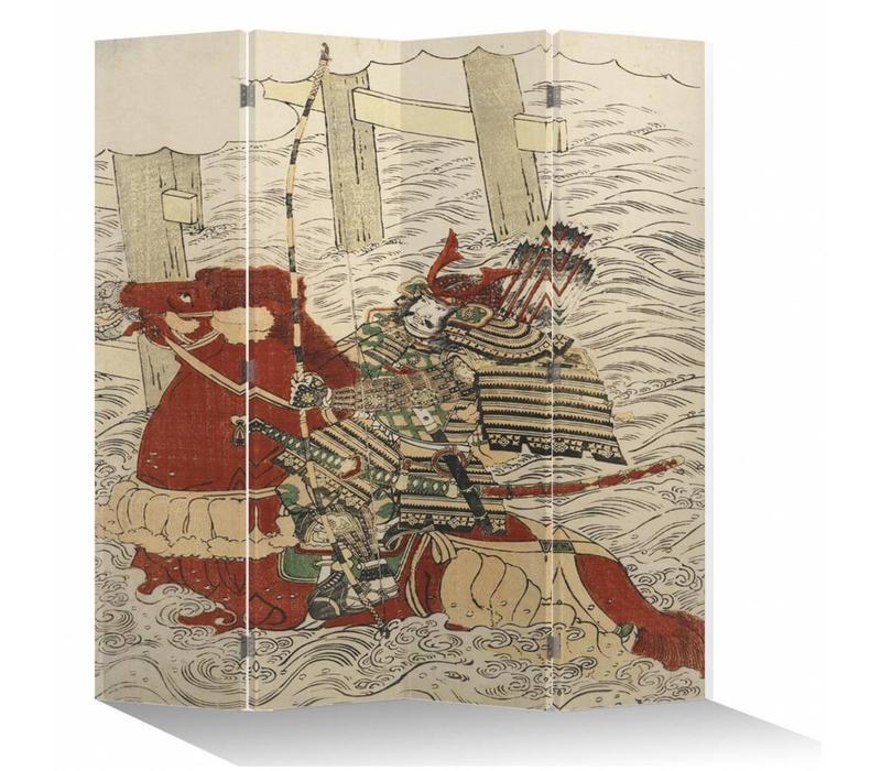 Japans Kamerscherm Oosters Scheidingswand B160xH180cm 4 Panelen Japanse Generaal