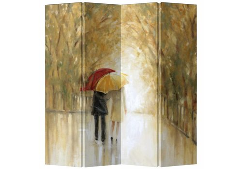Fine Asianliving Fine Asianliving Room Divider Privacy Screen 4 Panel Couple Rain