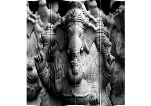 Fine Asianliving Kamerscherm 4 Panelen Ganesha