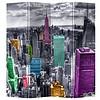 Fine Asianliving Kamerscherm 4 Panelen Gekleurd New York