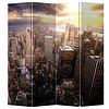 Fine Asianliving Kamerscherm 4 Panelen Stad bij Zonsondergang