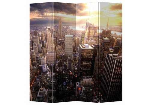 Fine Asianliving Fine Asianliving Room Divider Privacy Screen 4 Panel New York by Sunset
