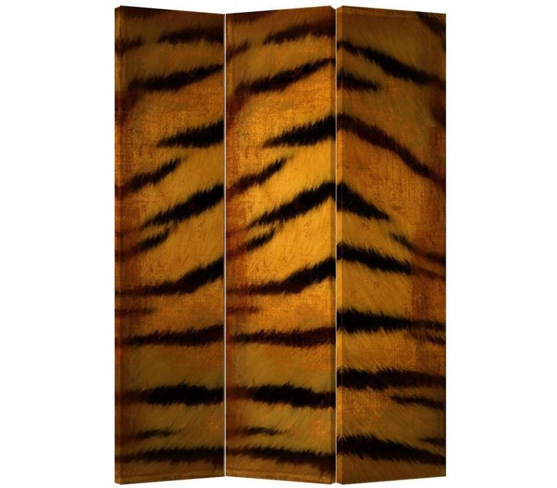 Fine Asianliving Kamerscherm Scheidingswand 3 Panelen Tijgerprint