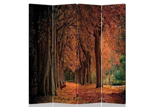 Fine Asianliving Fine Asianliving Room Divider Privacy Screen 4 Panel Autumn Forest