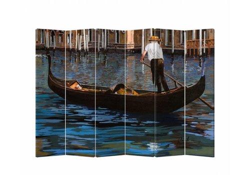 Fine Asianliving Fine Asianliving Kamerscherm Scheidingswand 6 panelen Gondelboot L240xH180cm