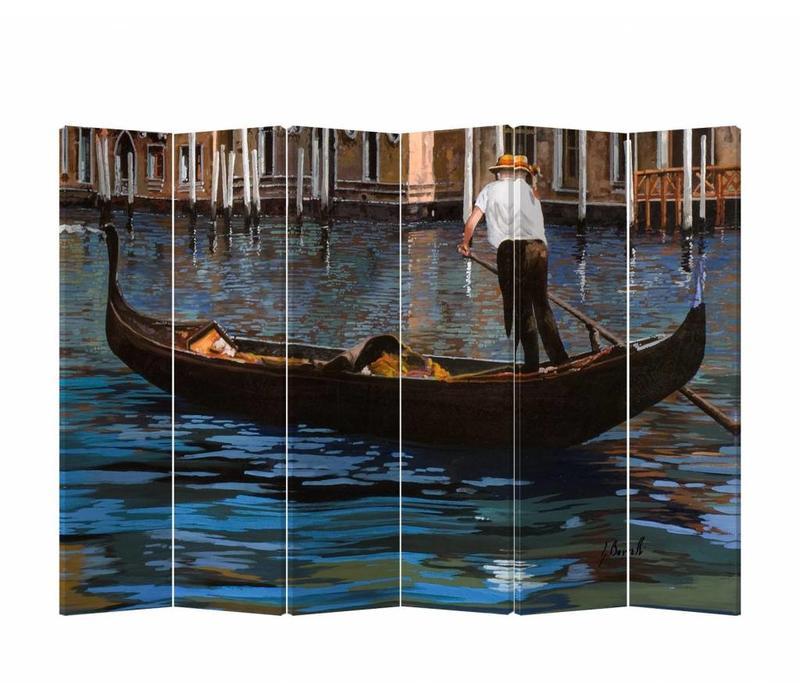Fine Asianliving Kamerscherm Scheidingswand 6 panelen Gondelboot L240xH180cm