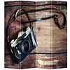 Fine Asianliving Fine Asianliving Kamerscherm Scheidingswand 4 Panelen Vintage Camera