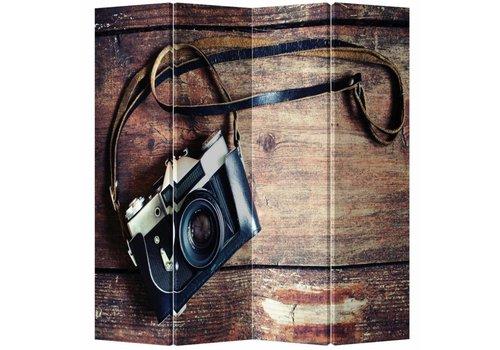 Fine Asianliving Chinees Kamerscherm 4 Panelen Vintage Camera