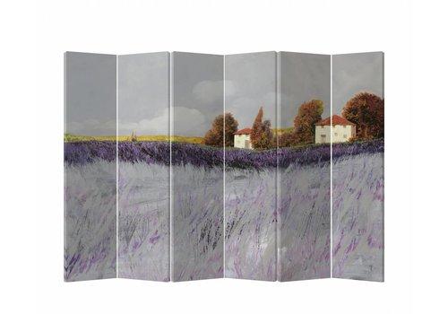Fine Asianliving Fine Asianliving Kamerscherm Scheidingswand 6 Panelen Lavendeltuin