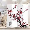 Fine Asianliving Chinees Kamerscherm Oosters Scheidingswand B160xH180cm 4 Panelen Rode Bloesem
