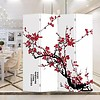 Fine Asianliving Chinese Oriental Room Divider Folding Privacy Screen 4 Panels W160xH180cm Red Blossoms