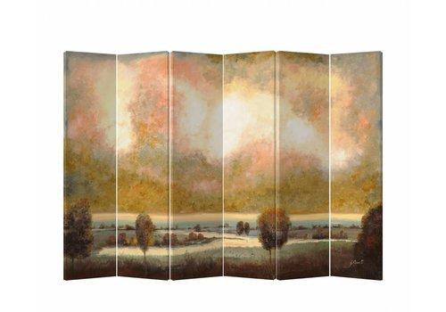 Fine Asianliving Fine Asianliving Kamerscherm Scheidingswand 6 panelen Landschap L240xH180cm