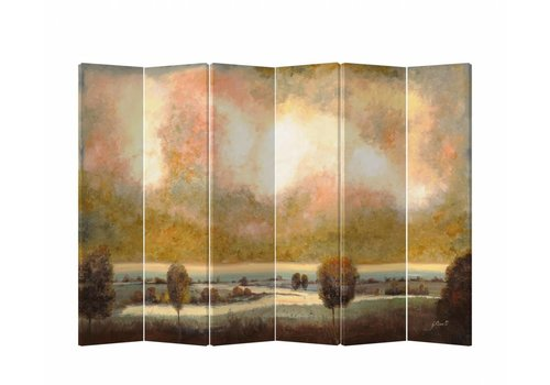 Fine Asianliving Room Divider Privacy Screen 6 Panel Meadow W240xH180cm