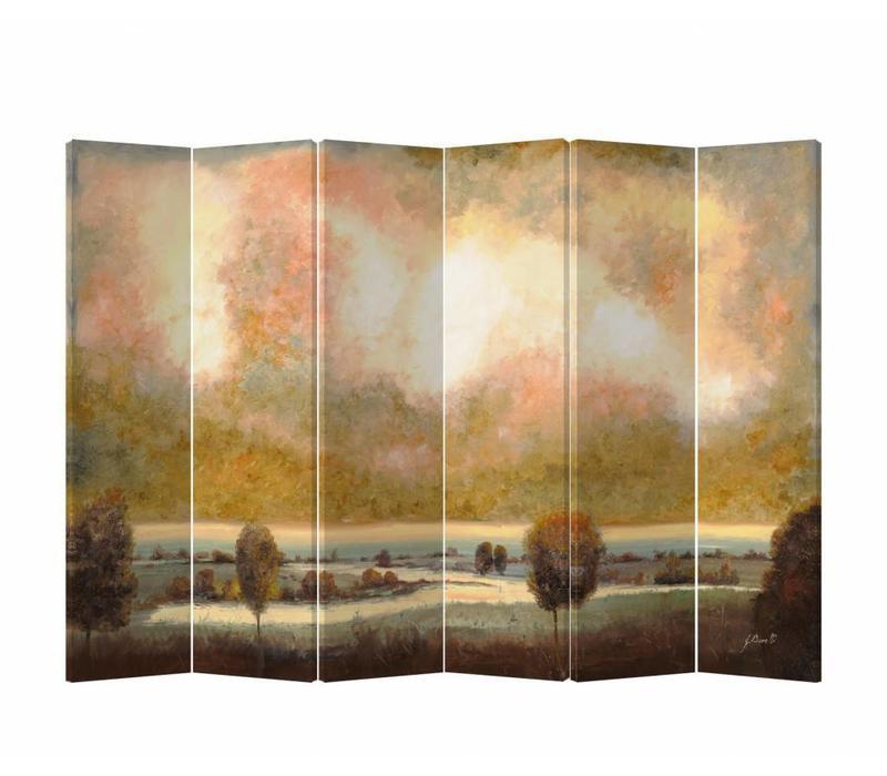 Kamerscherm Scheidingswand 6 panelen Landschap L240xH180cm
