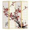 Fine Asianliving Fine Asianliving Oriental Room Divider 4 Panel Japanese Sakura (160x180cm)