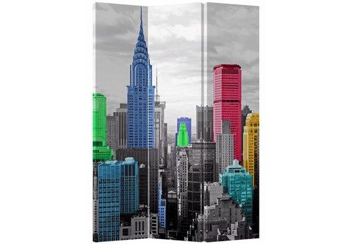 Fine Asianliving PREORDER WEEK 40 Kamerscherm 3 Panelen Gekleurd New York