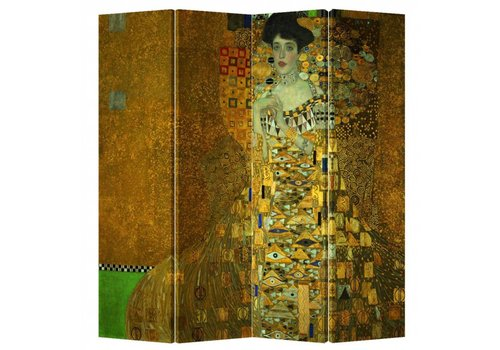 Fine Asianliving Fine Asianliving Room Divider Privacy Screen 4 Panel Gustav Klimt - Adele Bloch-Bauer Portrait