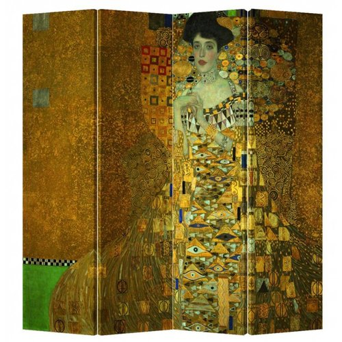 Fine Asianliving Kamerscherm Scheidingswand 4 Panelen Gustav Klimt - Adele Bloch-Bauer Portret