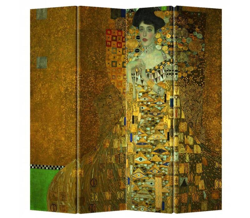 Fine Asianliving Room Divider Privacy Screen 4 Panel Gustav Klimt - Adele Bloch-Bauer Portrait L160xH180cm