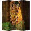 Fine Asianliving PREORDER 26/11/2020 Fine Asianliving Room Divider Privacy Screen 4 Panel Der Kuss - Gustav Klimt L160xH180cm